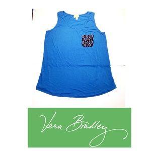 Vera Bradley women's blue tank top.  Size XL
